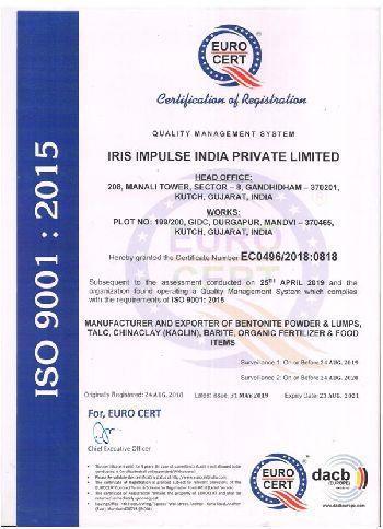 IRIS ISO Certificate