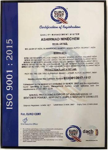 Ashirwad ISO Certificate