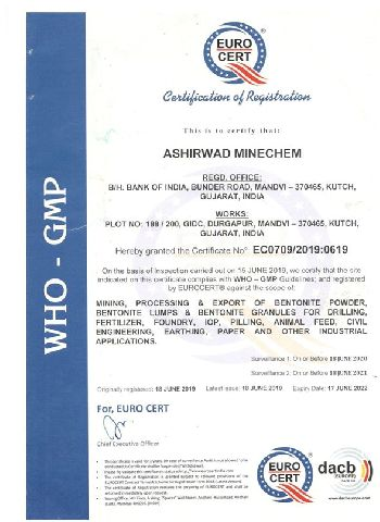 Ashirwad WHO-GMP Certificate