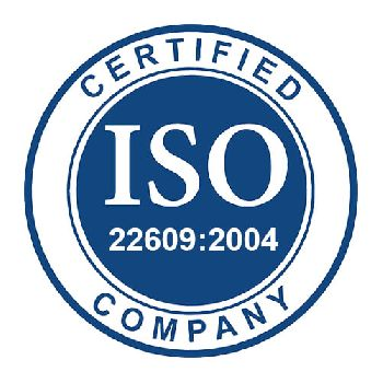 ISO 22609:2004 Certificate