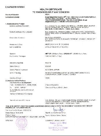Health Certificate