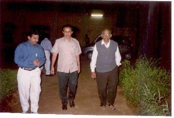 Dr. Madhavan Nair, Former ISRO Chairman during factory visit