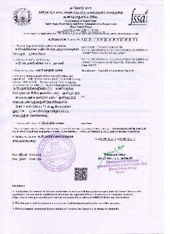 FSSAI Certificates