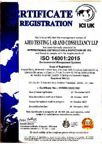 ISO 14001:2015 Certificate