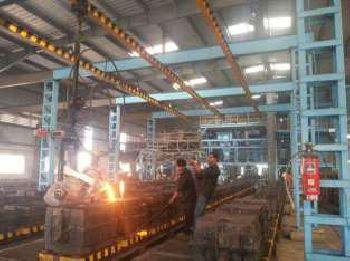 Molten Metal pouring through Monorail
