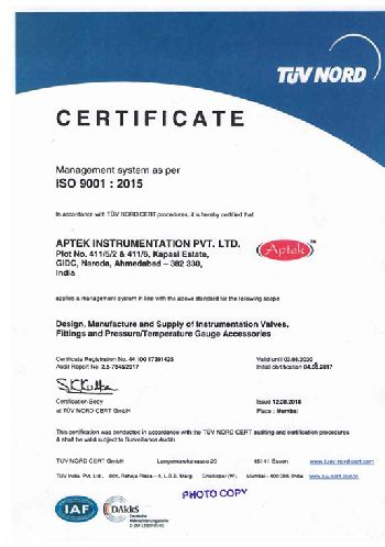 Certification TUV NORD