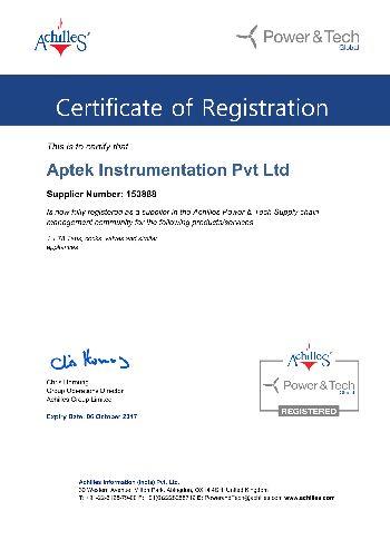 Certification ACHILLES