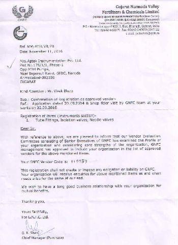 GNFC Vendor Approval