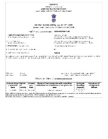 Fassai Licence Import - Export - 2