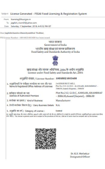 Fssai Food Licensing & Registration System