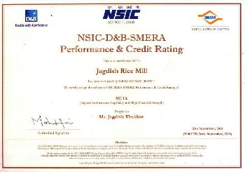 Perfomance Credit & Rating Certificate