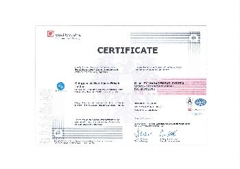 ISO 9001:2015 Certificate 02