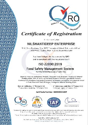 ISO 22000:2018 Certificate