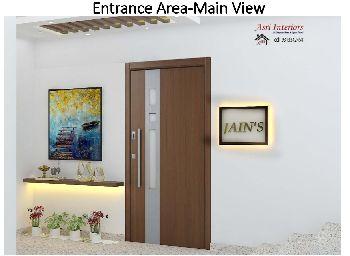 Entrance Foyer for a Builder Floor