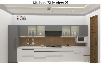 Kitchen Area (Color theme & U Shape)
