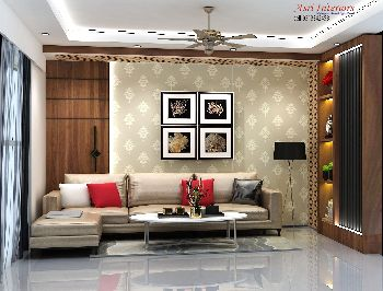 Drawing Room Area with Sofa & other Placements