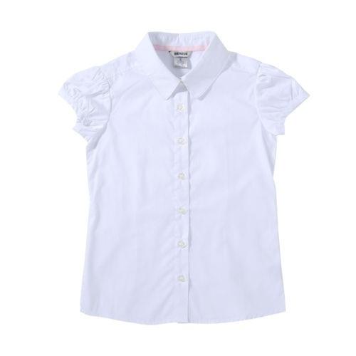 Girls Half Sleeve School Shirt
