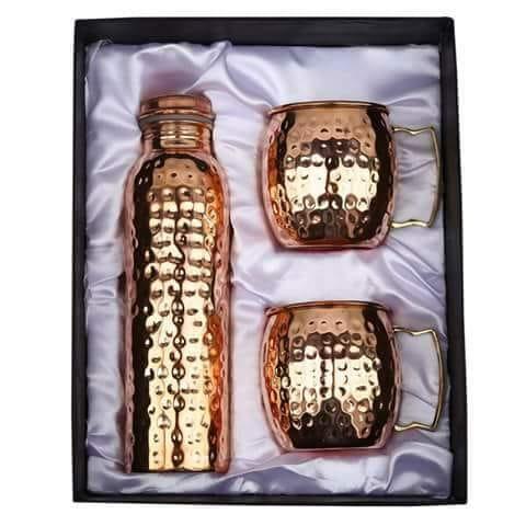 Copper Bottle & Mug Set