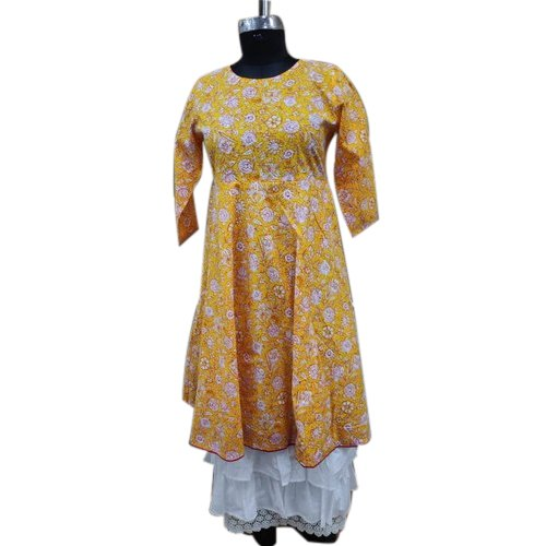Anarkali Printed Cotton Kurti