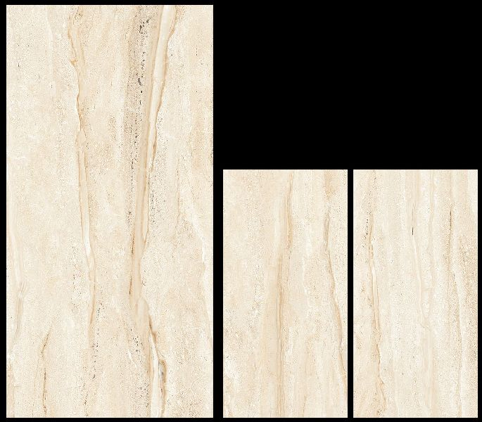 800X1600mm Dyna Beige Glossy Series Vitrified Slabs