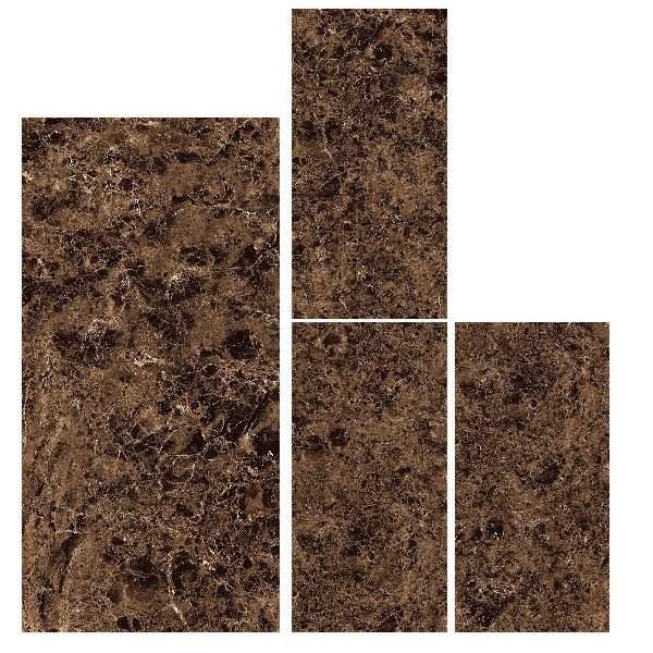 800X1600mm Emperador Marron Glossy Series Vitrified Slabs
