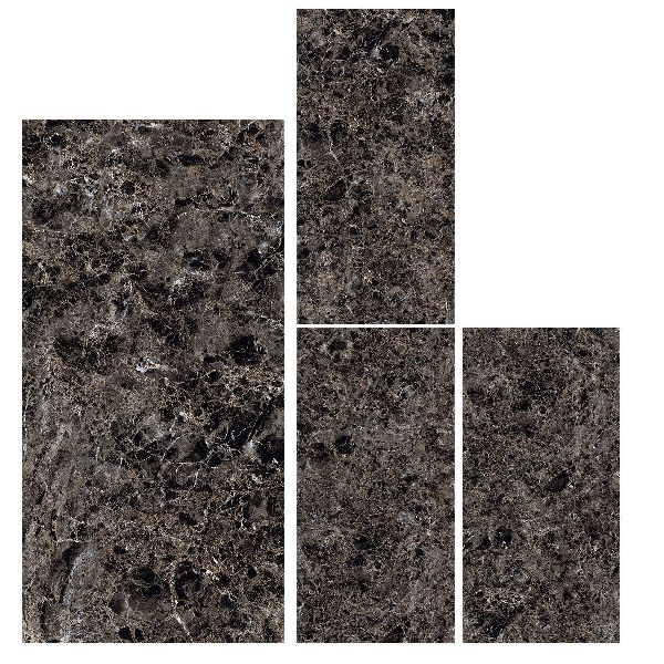 800X1600mm Emperador Quartz Glossy Series Vitrified Slabs
