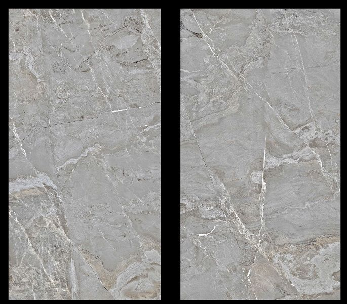 800X1600mm Fantasy Grey Glossy Series Vitrified Slabs