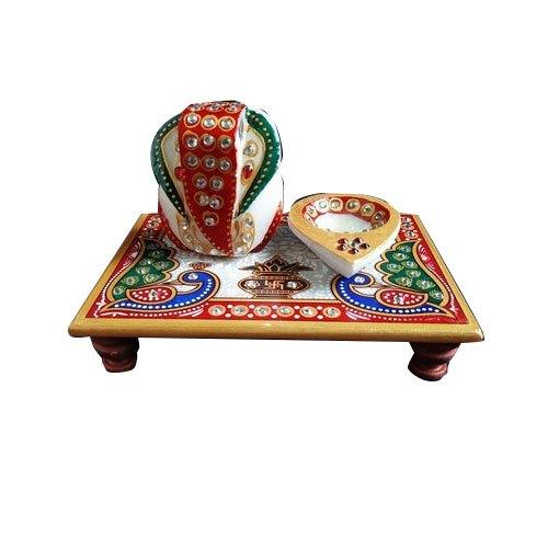 Decorative Marble Ganpati Chowki