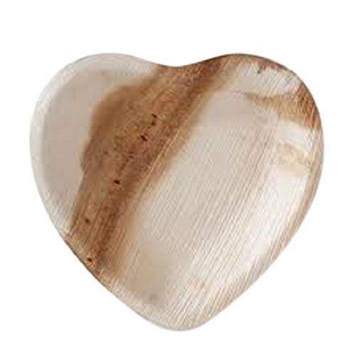 Heart Shaped Areca Leaf Plate