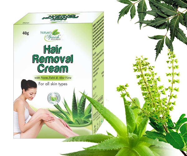 Nature\'s Sparsh Hair Removal Cream with Neem Tulsi & Aloe Vera