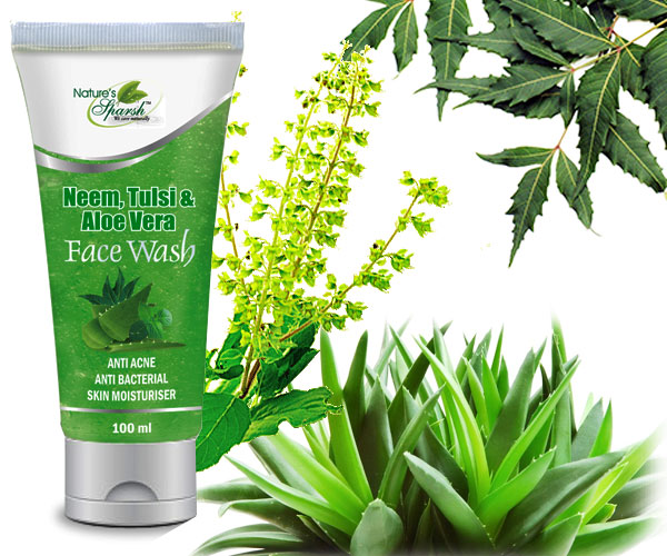 Nature\'s Sparsh Neem Tulsi & Aloe Vera Face Wash