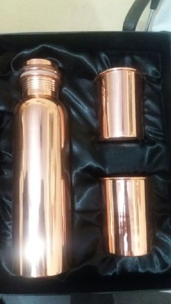 Copper 2 Glass & Bottle Set