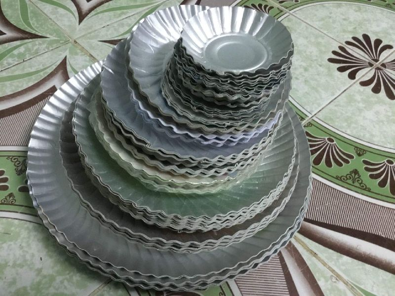 Disposable Silver Laminated Paper Plate