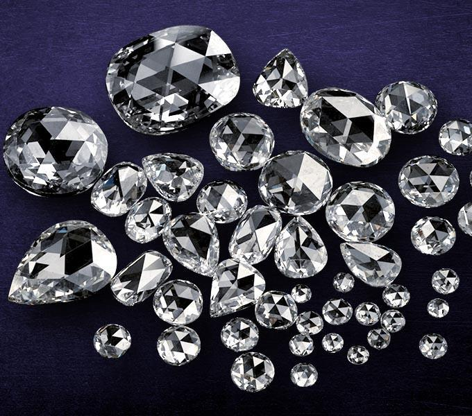 Rose Cut Loose Diamonds