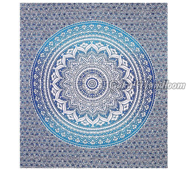 Blue Ombre Cotton Wall Hanging Tapestry