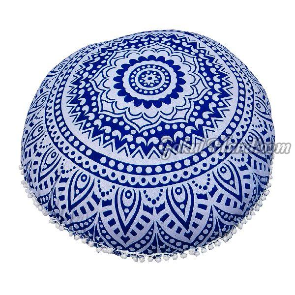 Blue Ombre Mandala Cushion Cover