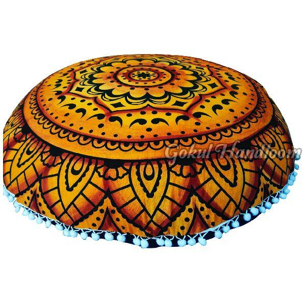 Brown Mandala Cushion Cover