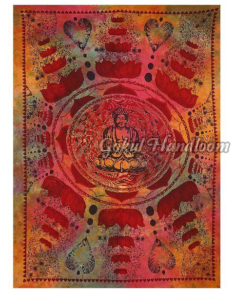 Dorm Decor Buddha Cotton Wall Hanging Tapestry