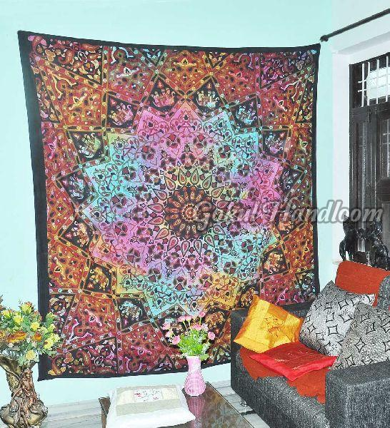 Elephant Star Cotton Wall Hanging Tapestry