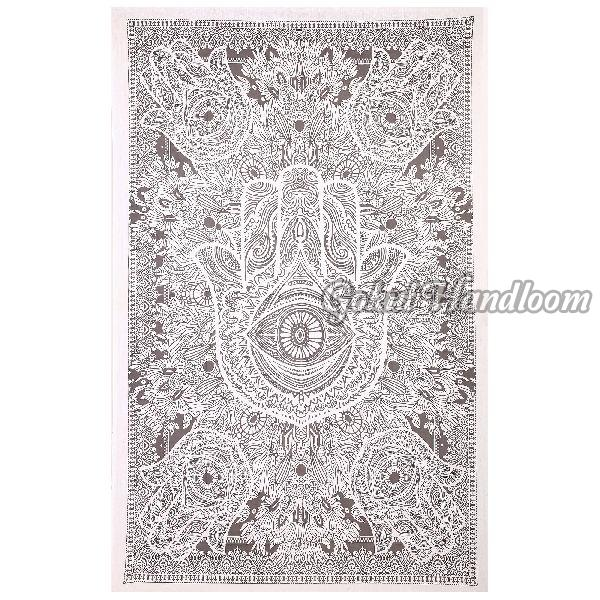Exclusive Hamsa Hand Cotton Wall Hanging Tapestry