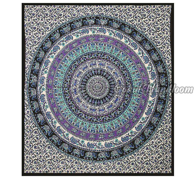 Hippie Elephant Wall Hanging Tapestry