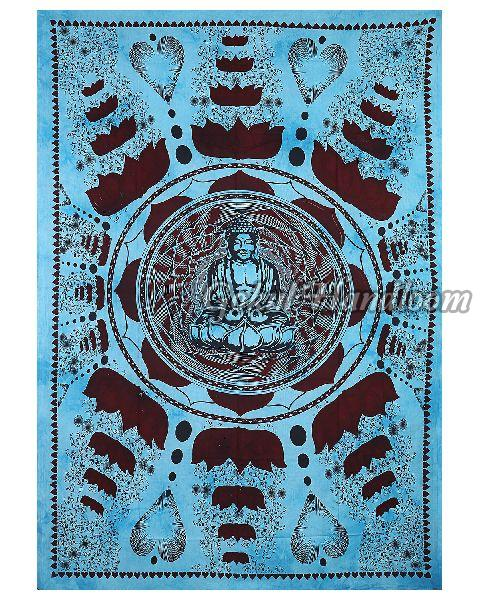 Large Buddha Cotton Wall Hanging Tapestry