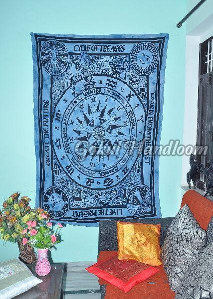 Live the Present Cotton Wall Hanging Tapestry