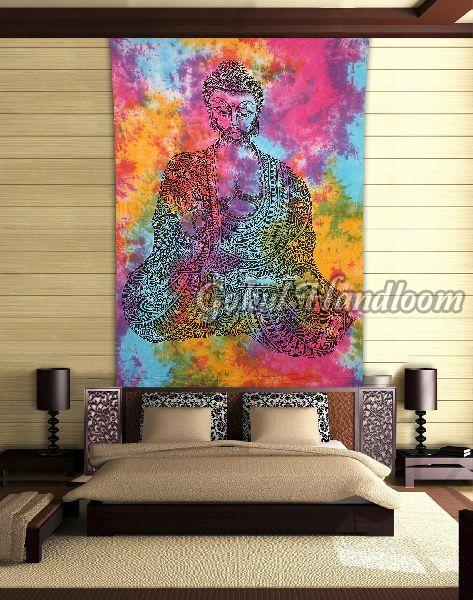 Meditation Buddha Cotton Wall Hanging Tapestry