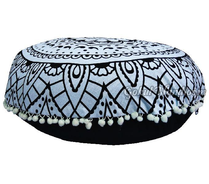 Ombre Black & White  Mandala Cushion Cover