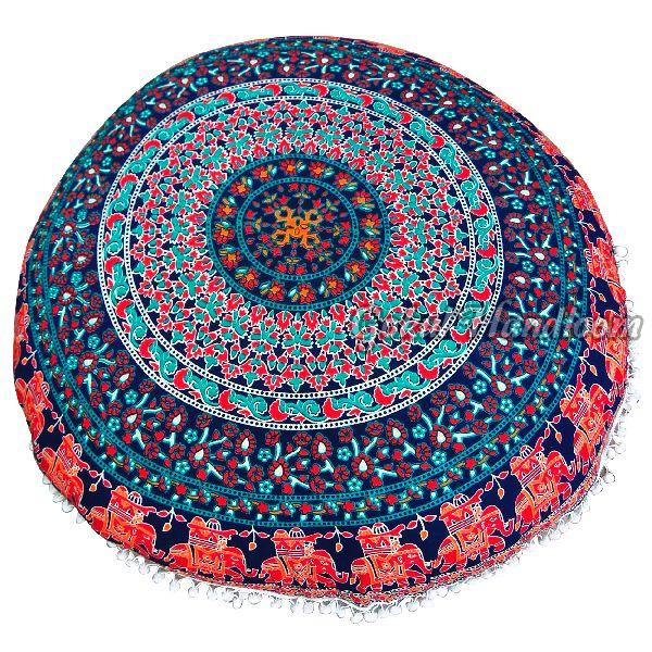 Peacock Mandala Cushion Cover