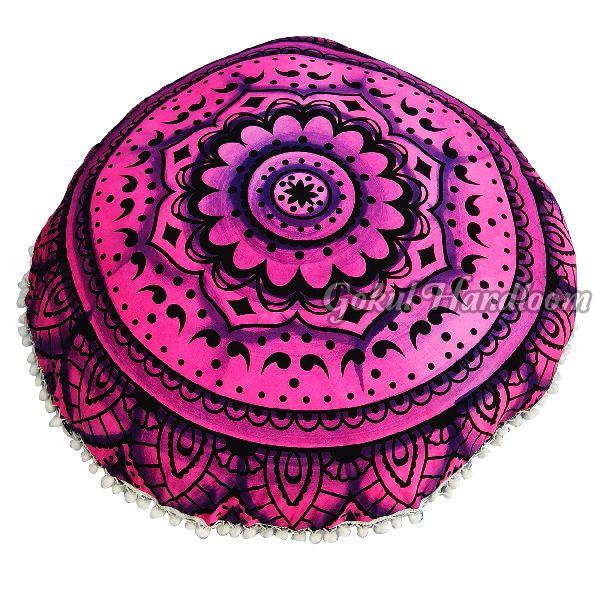 Pink Brush Mandala Cushion Cover
