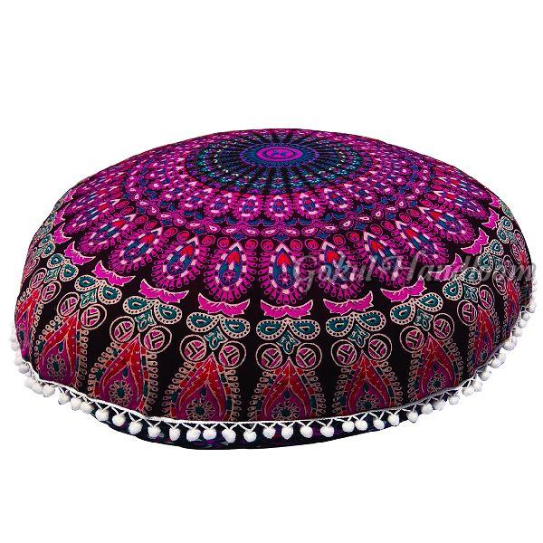 Pink Mandala Cushion Cover