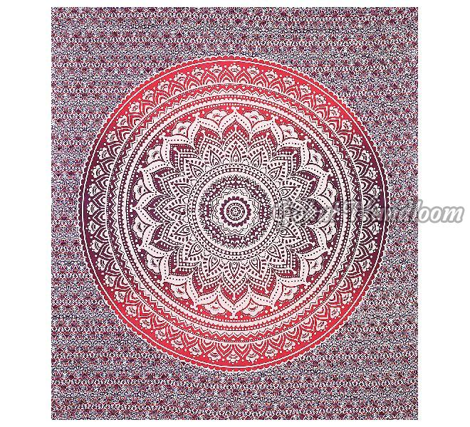 Pink Red Ombre Cotton Wall Hanging Tapestry