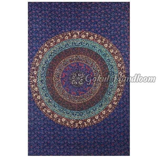 Psychedelic Multicolor Cotton Wall Hanging Tapestry